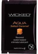 Wicked Aqua Water Based Flavored Lubricant Salted Caramel...